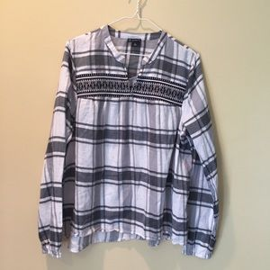 New directions embroidered plaid top EUC Xl